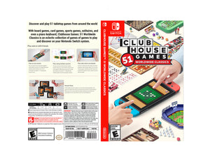 Clubhouse Games: 51 Worldwide Classics - Custom Nintendo Switch Art Cover