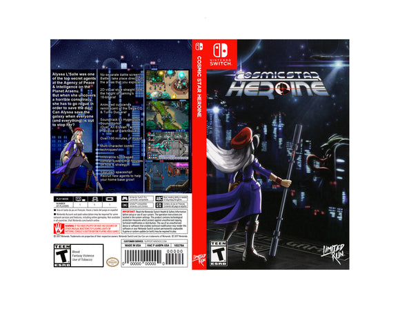 Cosmic Star Heroine - Custom Nintendo Switch Art Cover