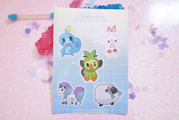 Galarian Pokemon Sword and Shield Sticker Sheet
