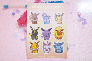 Eeveelution Sticker Sheet
