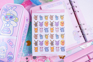 Eeveelution Planner Sticker Sheet