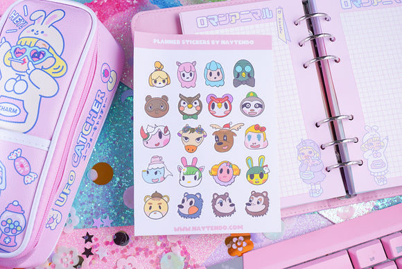 Animal Crossing Villagers Planner Sticker Sheet