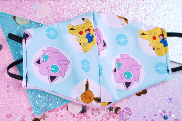 Nintendo Pokemon Cotton Face Mask | 2-Layers | No Filter Slot