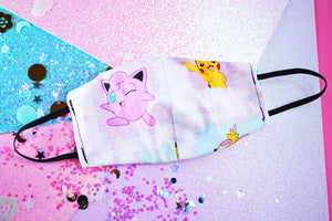 Pastel Kawaii Pokemon Cotton Face Mask | 2-Layers | No Filter Slot