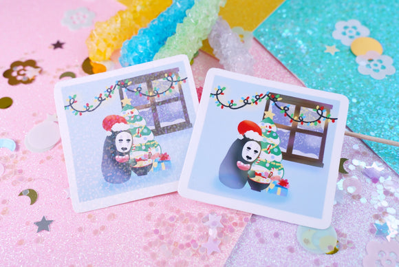 No Face Christmas Album VINYL Sticker Holographic or Gloss