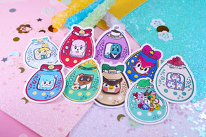 Animal Crossing Tamagotchi Holographic Sticker Pack |  Animal Crossing | Tamagotchi 4U | Kawaii