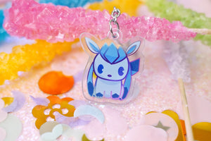 "Glaceon 1.5"" DOUBLE SIDED Acrylic Charm 