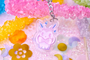 "Sylveon 1.5"" DOUBLE SIDED Acrylic Charm 
