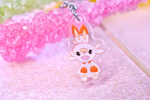 "Scorbunny 1.5"" DOUBLE SIDED Acrylic Charm 