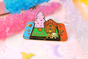 Stardew Valley in the Spring Enamel Pin