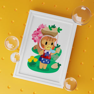Daisy Mae Animal Crossing Art Print