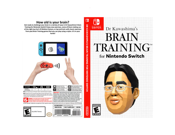Dr Kawashima's Brain Training for Nintendo Switch - Custom Nintendo Switch Art Cover