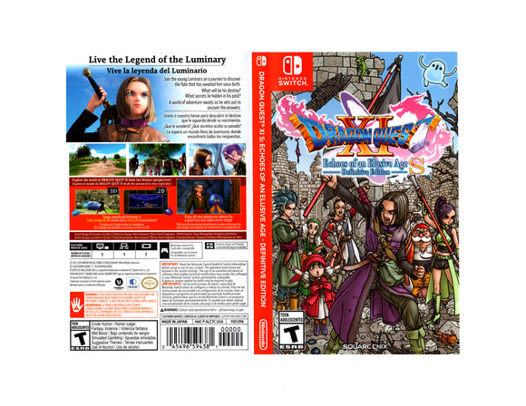 Dragon Quest XI S: Echoes of an Elusive Age - Definitive Edition - Custom Nintendo Switch Art Cover