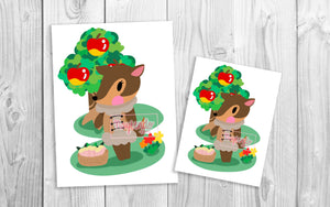 Fauna Animal Crossing Art Print