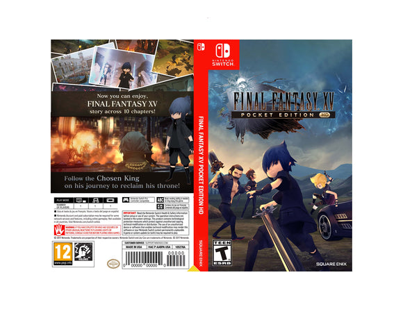 Custom Nintendo Switch Art Cover w/ Game Case - Final Fantasy XV: Pocket Edition