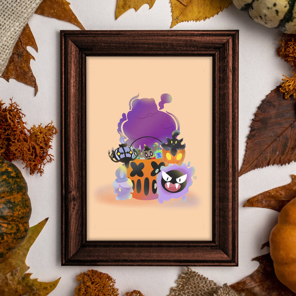 Spooky Pokemon Art Print