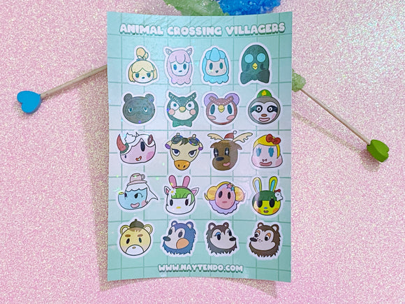Animal Crossing Villagers Sticker Sheet