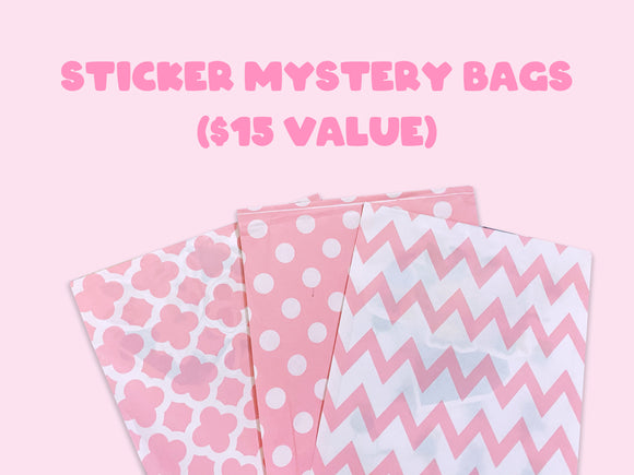 Sticker Mystery Bags | Holographic Stickers | Planner | Kawaii