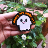 Where my boos at? 2.5 inch Spoopy Ghost Hard Enamel Pin