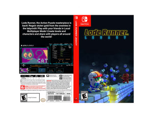 Lode Runner Legacy - Custom Nintendo Switch Art Cover