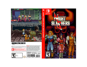 Johnny Turbo's Arcade: Night Slashers - Custom Nintendo Switch Art Cover