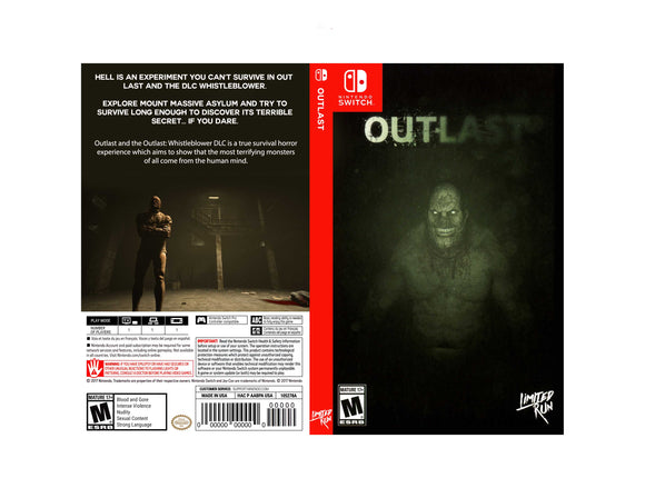 Outlast - Custom Nintendo Switch Art Cover