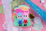 "Reese and Cyrus Re-Tail 2.5"" DOUBLE SIDED Acrylic Charm 