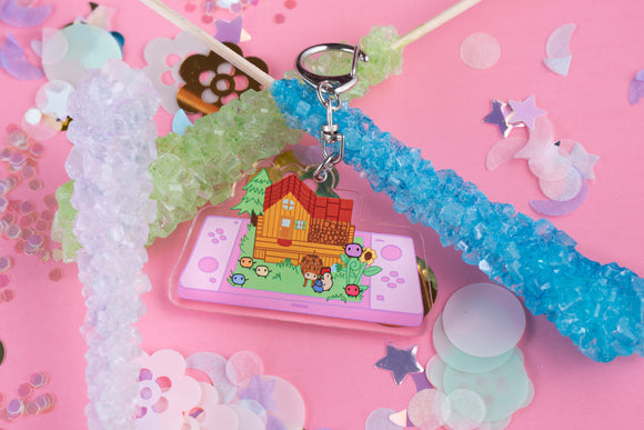 Stardew Valley Kawaii Pink Version DOUBLE SIDED Acrylic Charm | Nintendo Switch