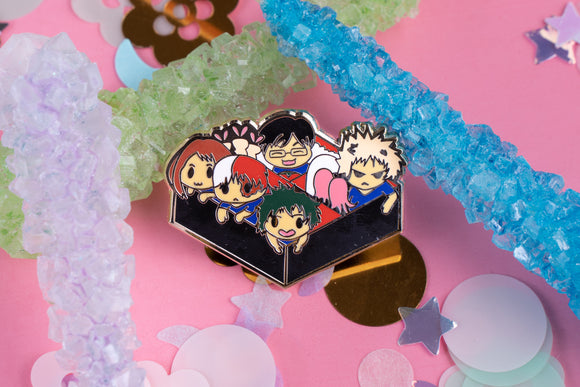 My Hero Academia Bento Box Hard Enamel Pin | Anime Todoroki Midoriya | MHBA | Boku No Hero | Kawaii
