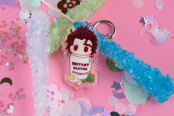 Tanjiro Instant Slayer Ramen Cup Noodles Acrylic Charm | Demon Slayer