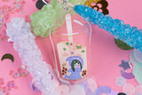 Froppy Boba Milk Tea Tsuyu Asui My Hero Academia 2.5 inch Acrylic Charm | Boku No Hero Academia | Kawaii | Anime