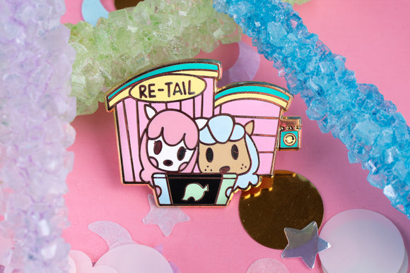 Cyrus and Reese Re-tail Hard Enamel Pin | Animal Crossing