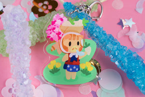 "Daisy Mae Animal Crossing 2.5"" DOUBLE SIDED Acrylic Charm 