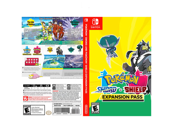 Pokemon Sword and Pokemon Shield Expansion Pass - Custom Nintendo Switch Art Cover