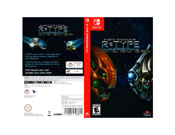 R-Type Dimensions EX - Custom Nintendo Switch Art Cover