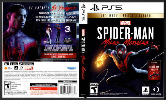 Spider Man: Miles Morales - Custom PS5 Art Cover