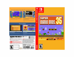 Super Mario Bros 35 - Custom Nintendo Switch Art Cover