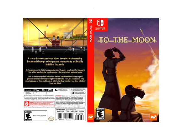 To The Moon - Custom Nintendo Switch Art Cover