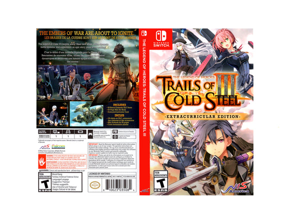 Trails of Cold Steel III - Custom Nintendo Switch Art Cover