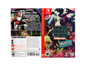 Travis Strikes Again: No more Heroes - Custom Nintendo Switch Art Cover