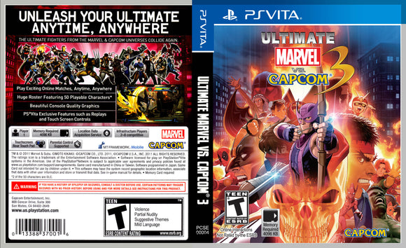 Ultimate Marvel Vs. Capcom 3 - Custom PS Vita Cover