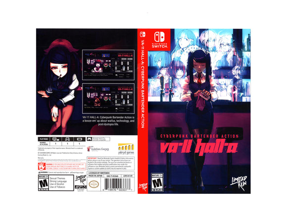 VA-11 Hall-A: Cyberpunk Bartender Action - Custom Nintendo Switch Art Cover