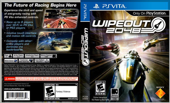 Wipeout 2048 - Custom PS Vita Art Cover w/ Game Case