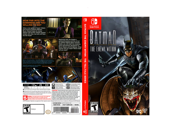 Batman: The Enemy Within - Custom Nintendo Switch Art Cover