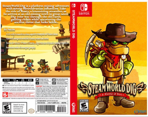 Steamworld Dig - Custom Nintendo Switch Art Cover w/ Game Case