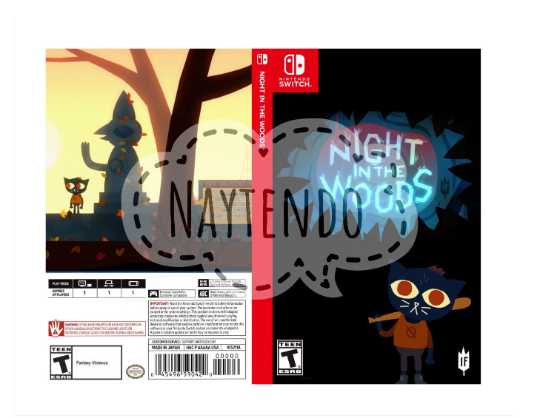 Night in the Woods - Custom Nintendo Switch Art Cover w/ Game Case