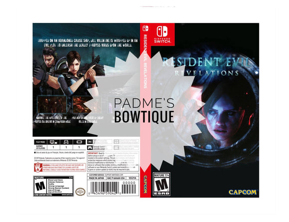 Custom Nintendo Switch Art Cover w/ Game Case - Resident Evil Revelations