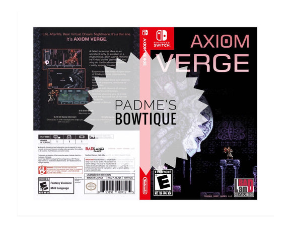 Custom Nintendo Switch Art Cover w/ Game Case - Axiom Verge