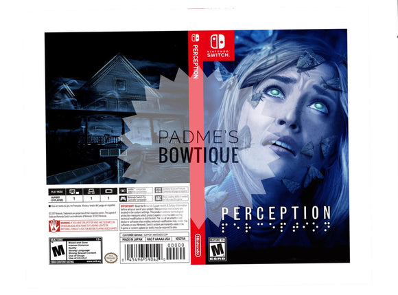 Custom Nintendo Switch Art Cover w/ Game Case - Perception