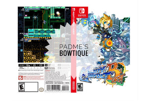 Custom Nintendo Switch Art Cover w/ Game Case - Might Gunvolt Burst